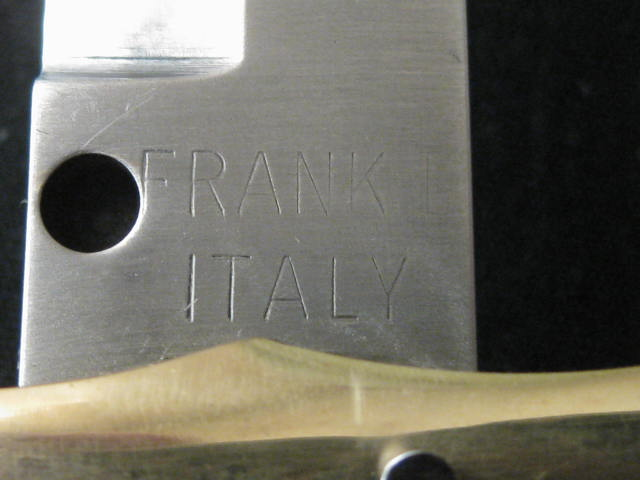 tang stamp FRANK B ITALY