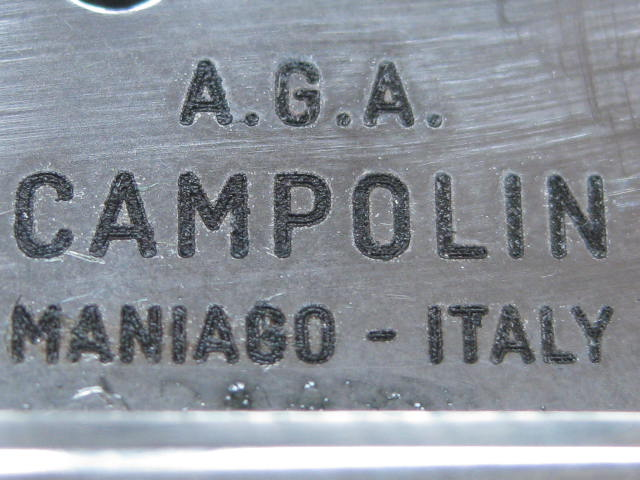 tang stamp A.G.A. Campolin Maniago-Italy