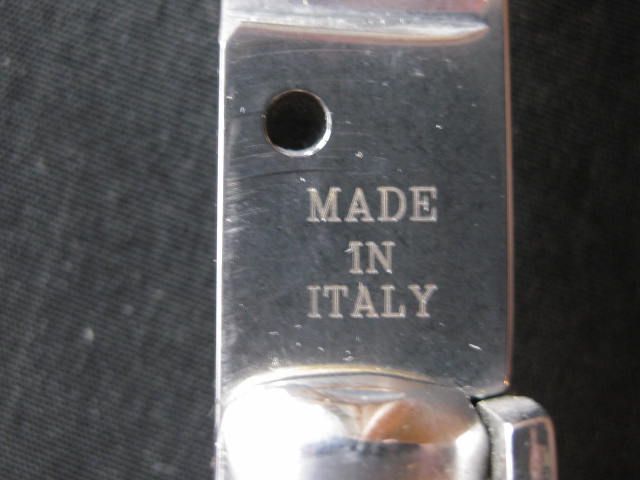 tang stamp MADE IN ITALY
