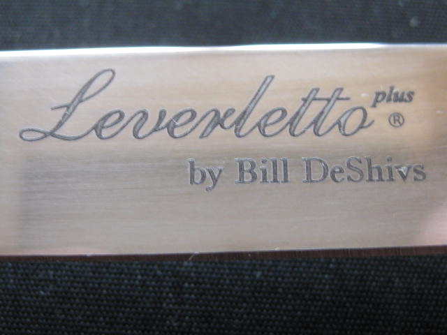 laser etching Leverletto by Bill DeShivs