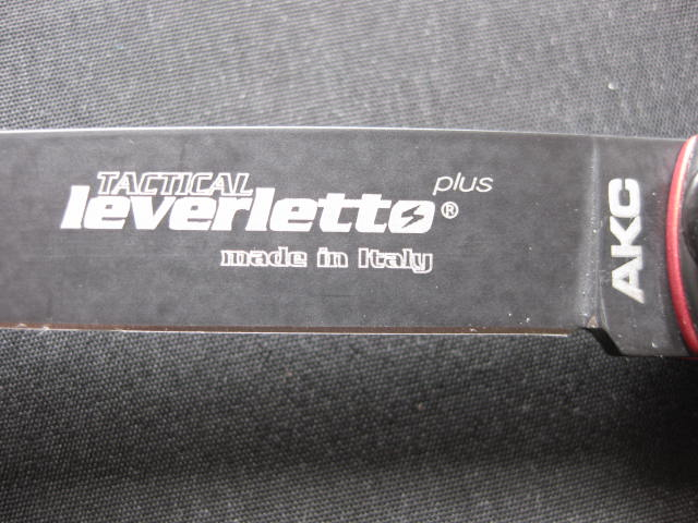 laser etching Tactical Leverletto AKC Made in Italy