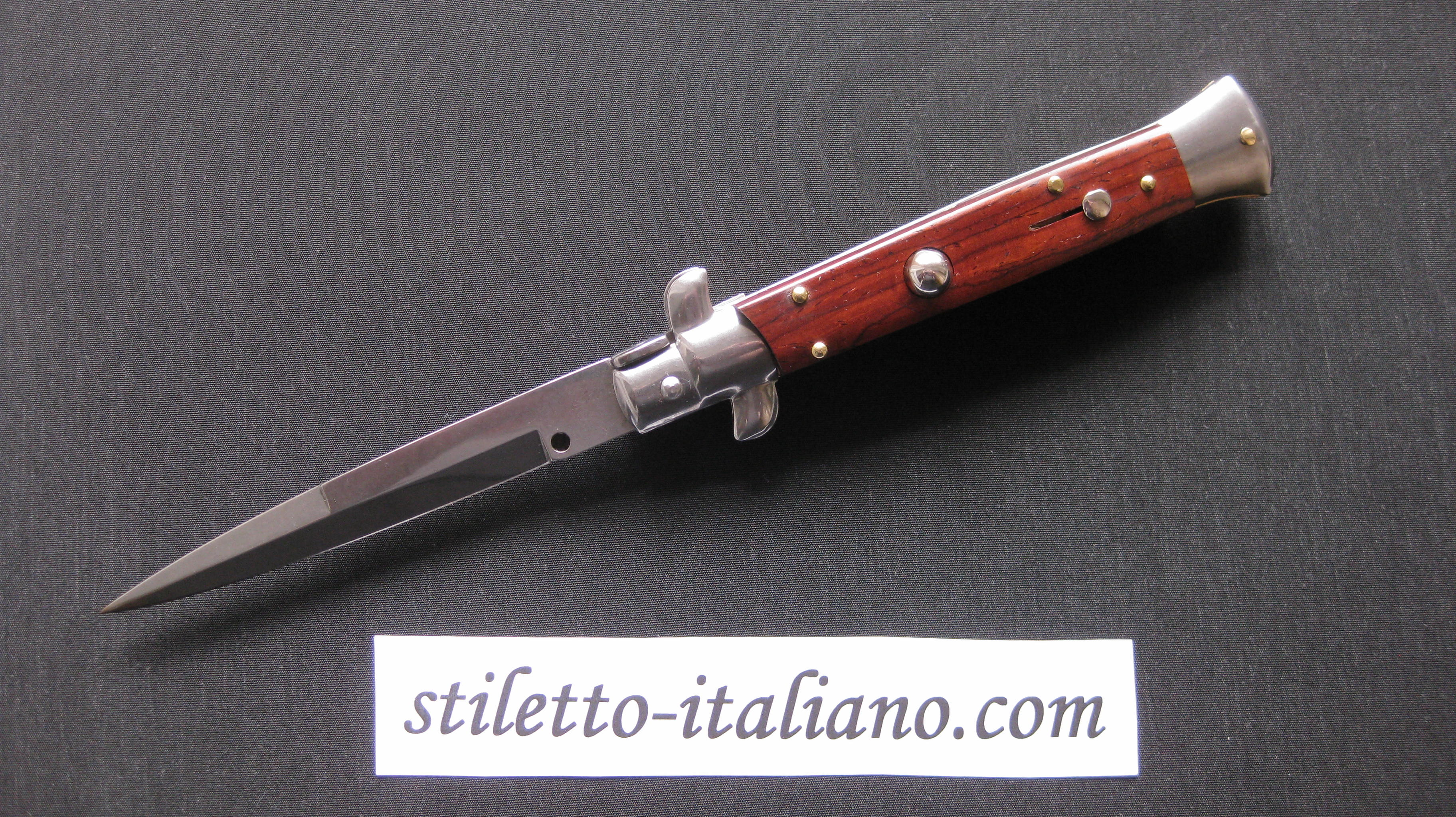 Stiletto 9 Bayonet stiletto Cocobolo wood Frank Beltrame