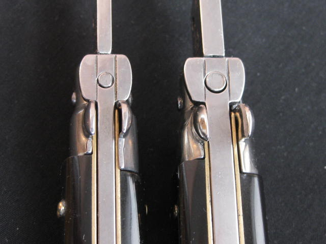 comparing locking tab Beltrame and Latama stiletto